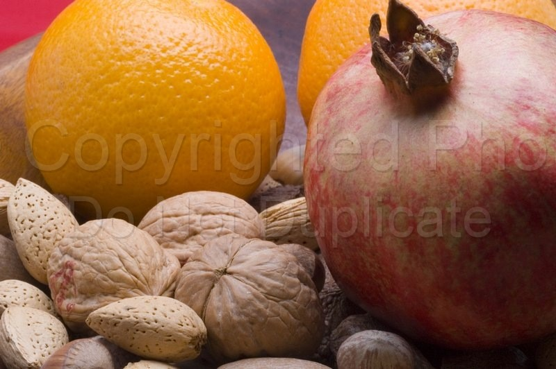 Food & Drink - Tom Warner Photography nuts, fruit, walnut, almond, orange, citrus, pomegranate, health, food, dine, dining, ingredients, christmas, thanksgiving, living