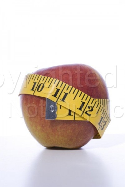 Stock Shots - Tom Warner Photography healthy, weight loss, weight, loose, health, fiber, nutrition, food, fruit, apple, measure