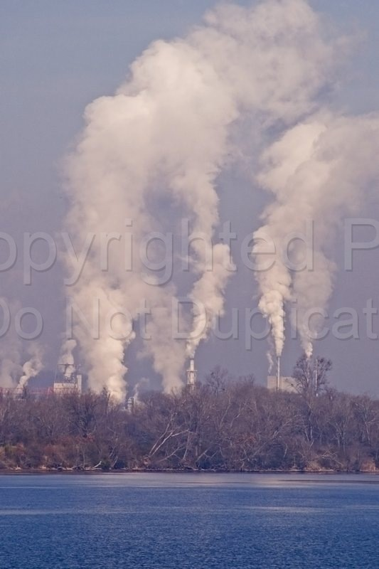 Scapes - Tom Warner Photography smog, smoke, factory, processing, paper mill, pollution, river, water, clean water, clean air, atmosphere, global warming